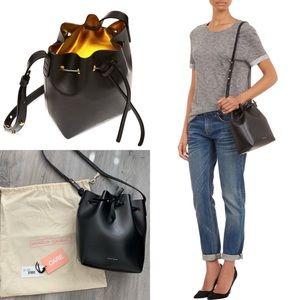 Mansur Gavriel Mini Bucket Bag Blk/Gold